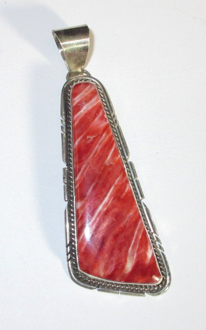 Navajo Sterling & Spiny Pendant