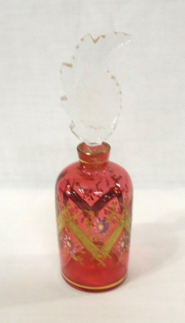 Enameled Cranberry Perfume Bottle