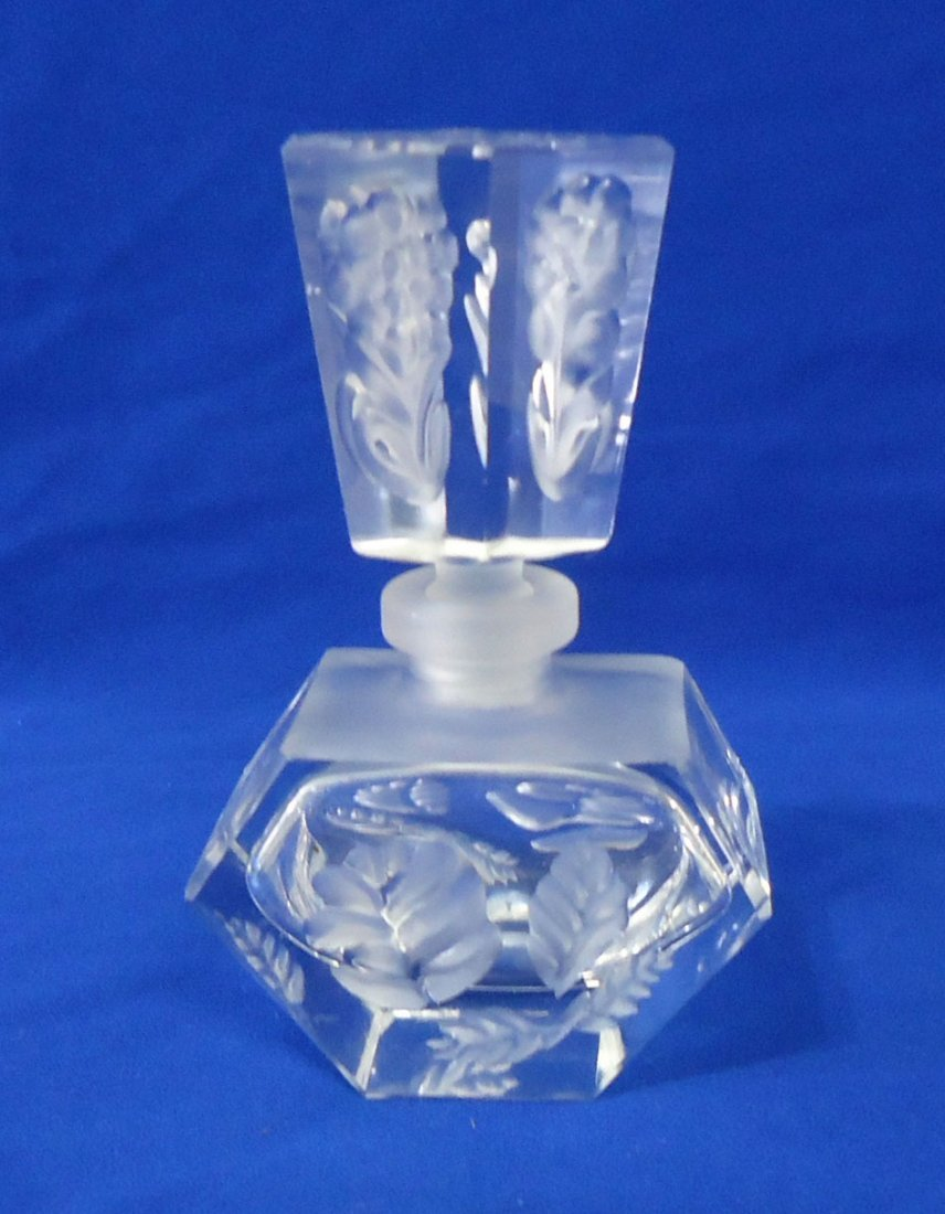 Etched Perfume Bottle
