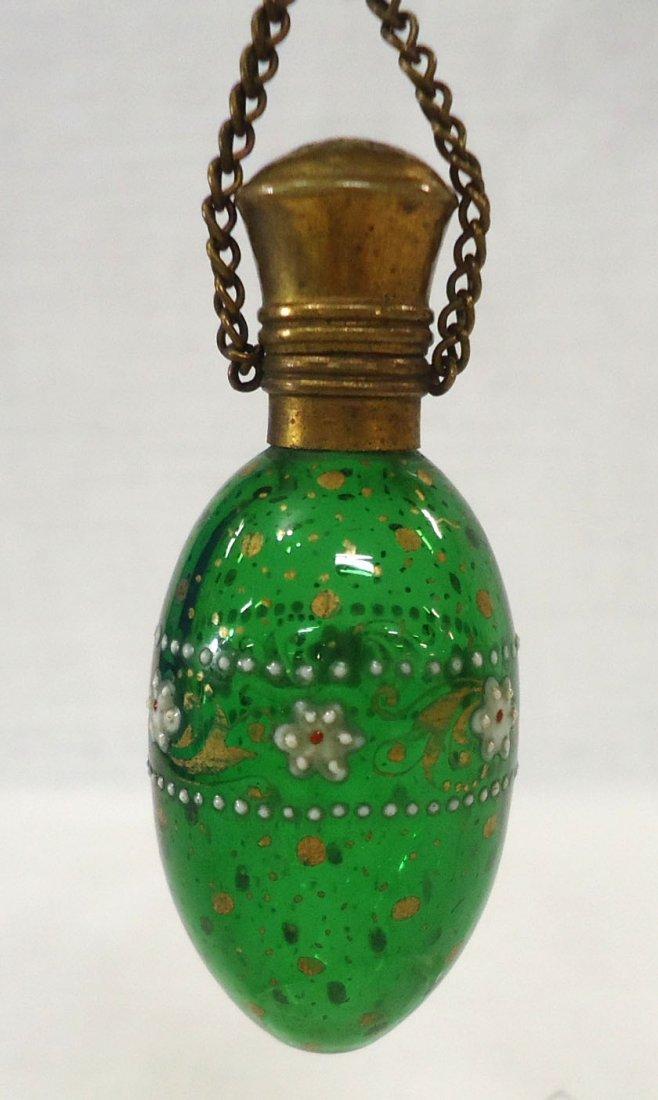 Enameled Victorian Perfume Bottle - 2