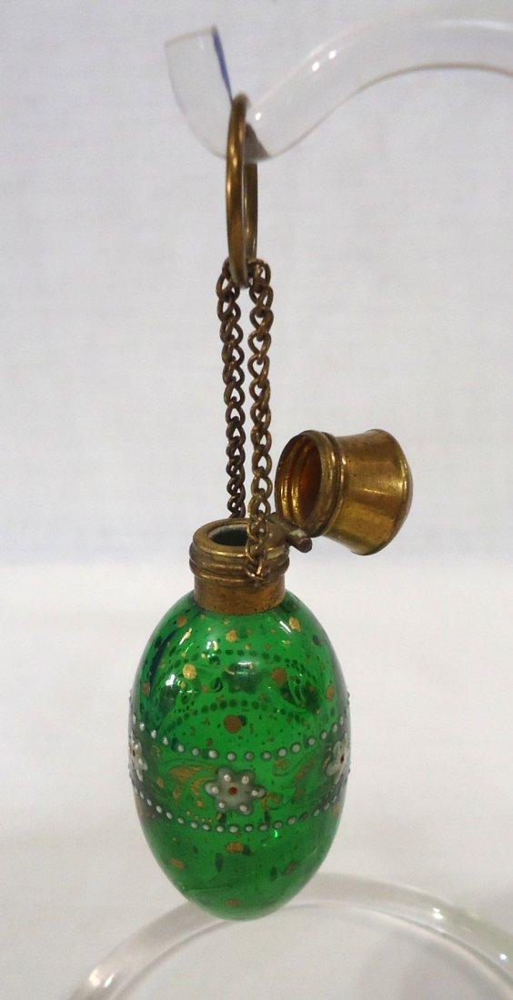 Enameled Victorian Perfume Bottle - 3