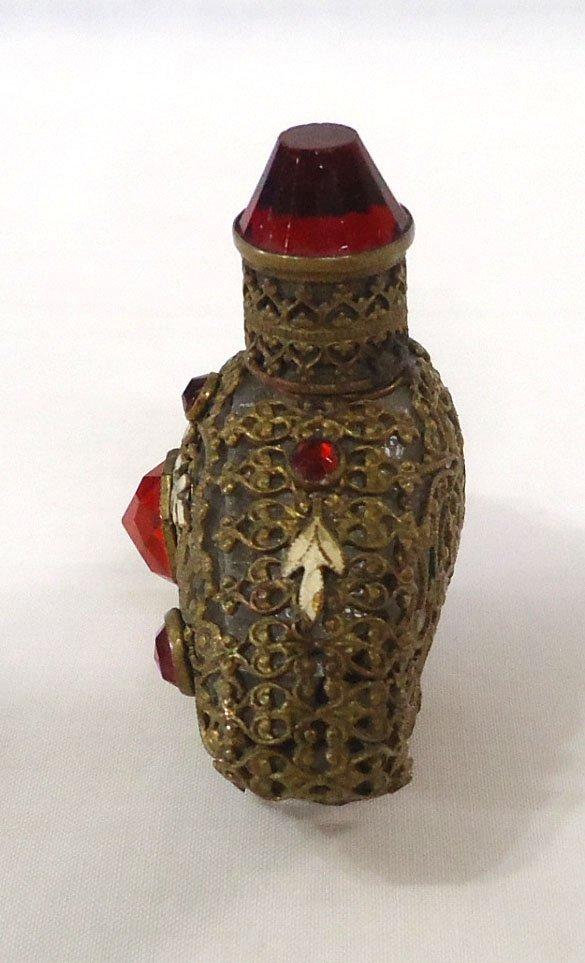Jeweled & Filigree Perfume Bottle - 2