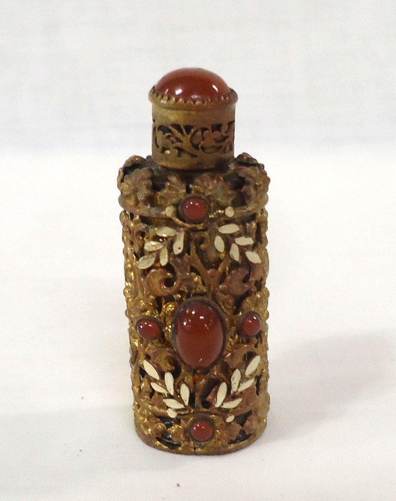 Jeweled & Filigree Perfume Bottle