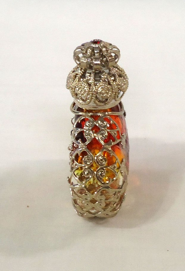 Amberina w/ Filigree Perfume Bottle - 2