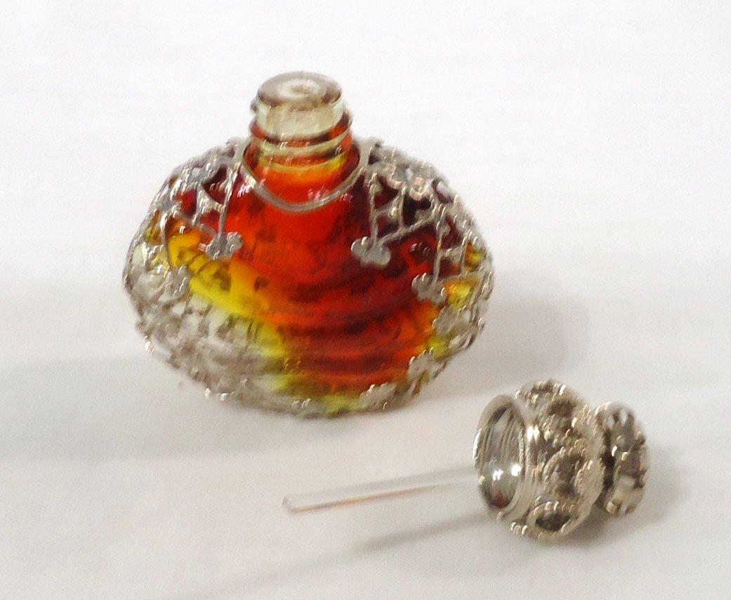 Amberina w/ Filigree Perfume Bottle - 3