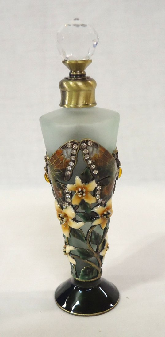 Enameled Butterfly Perfume Bottle - 3