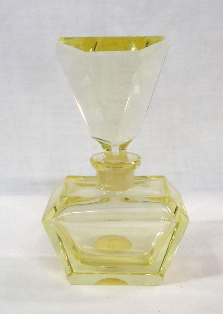 Yellow Crystal Perfume Bottle