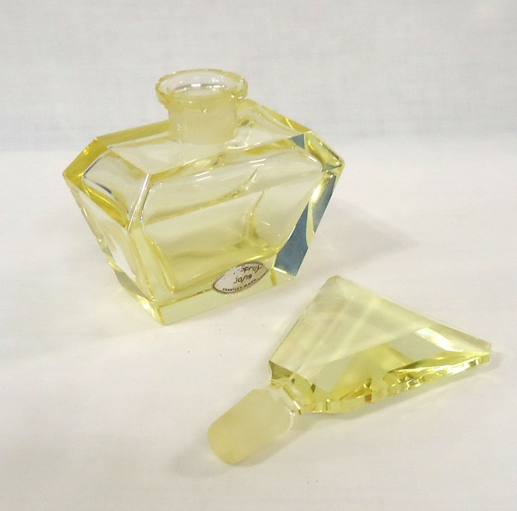 Yellow Crystal Perfume Bottle - 2