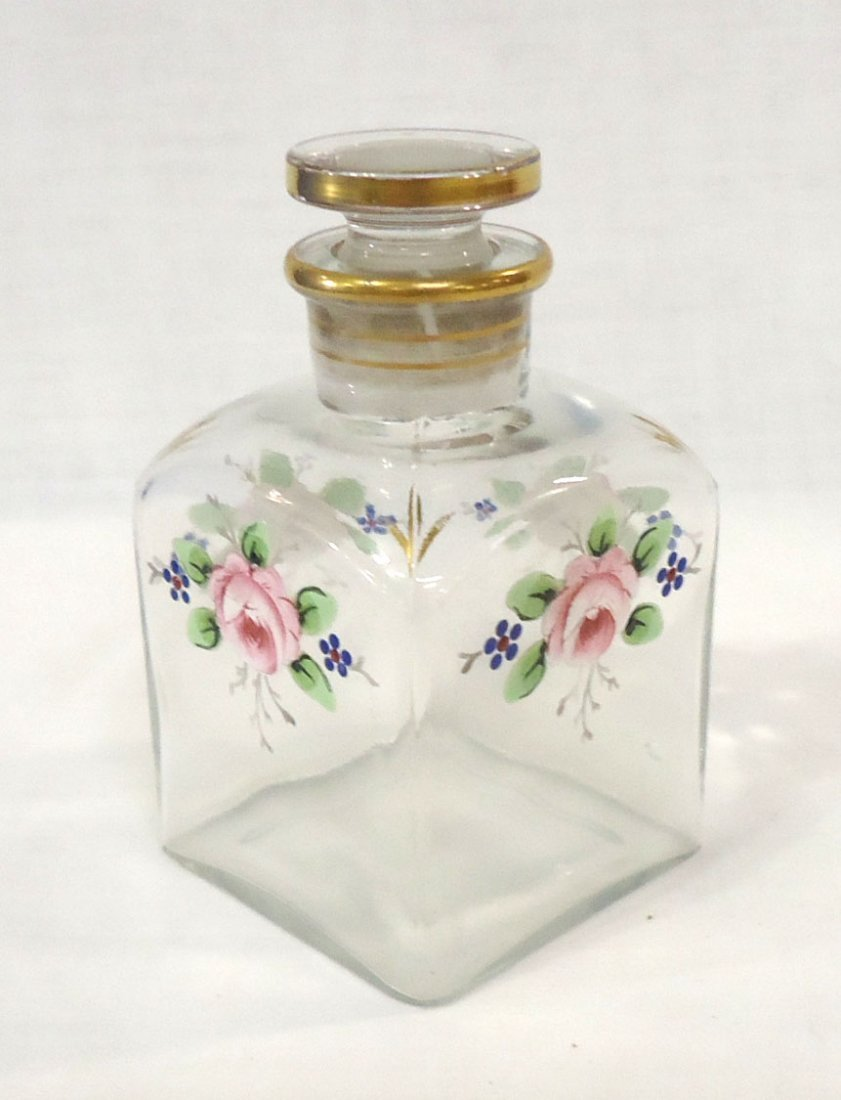 Enameled Cologne/Perfume Bottle