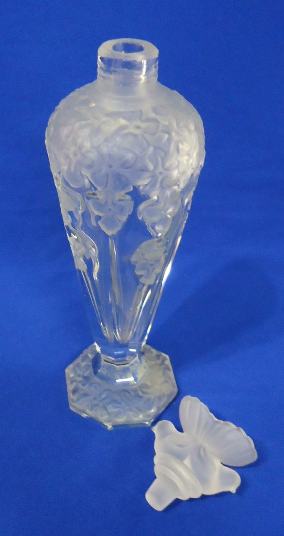 Tall Frosted Perfume Bottle - 3