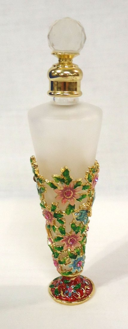 Jeweled & Enameled Perfume Bottle - 3
