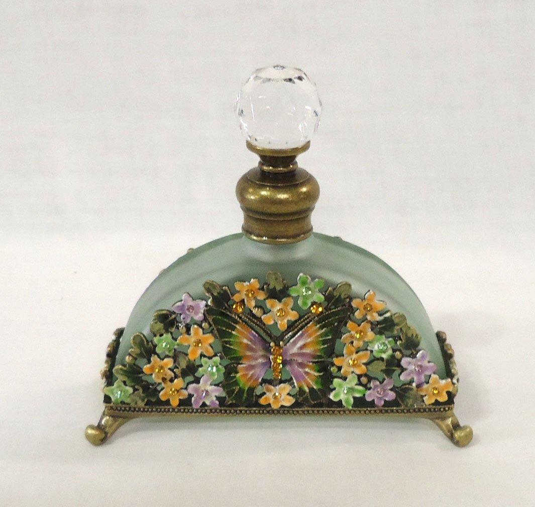 Enameled Jewel Butterfly Perfume Bottle