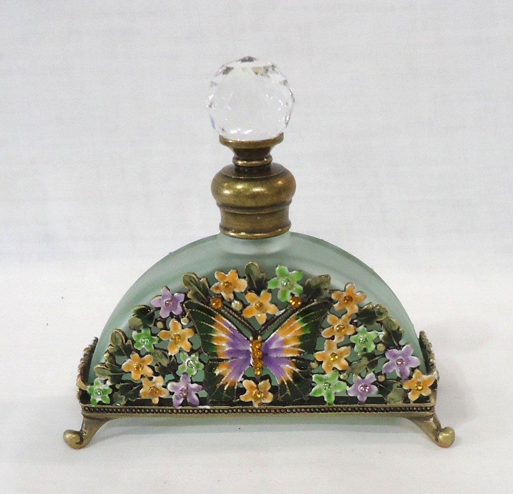 Enameled Jewel Butterfly Perfume Bottle - 2
