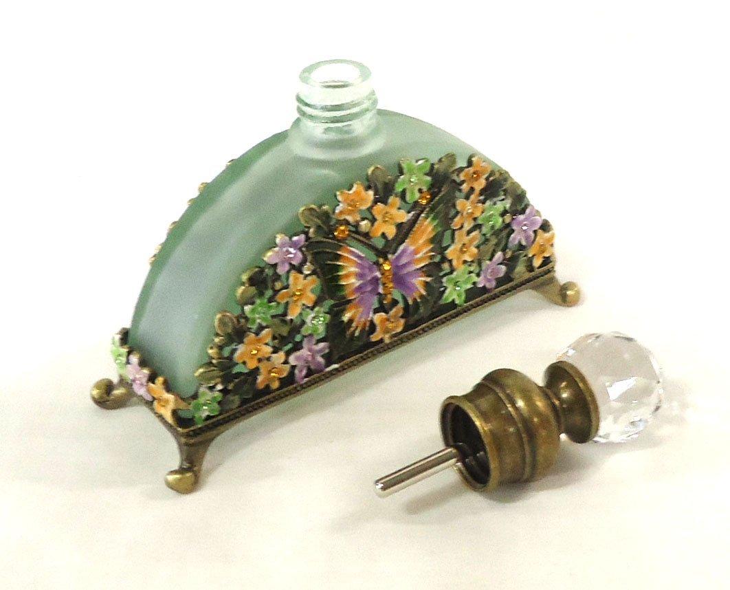 Enameled Jewel Butterfly Perfume Bottle - 3