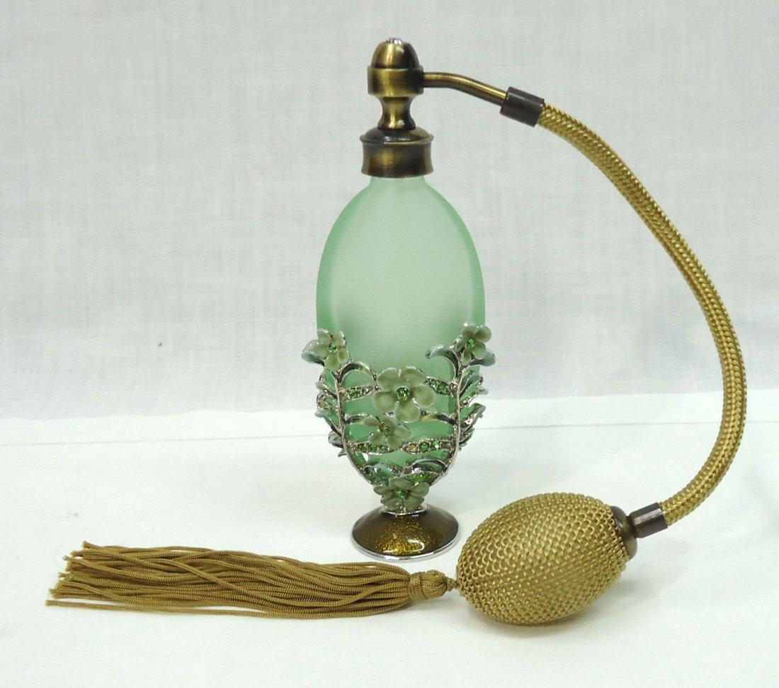 Enameled Filigree Perfume Bottle