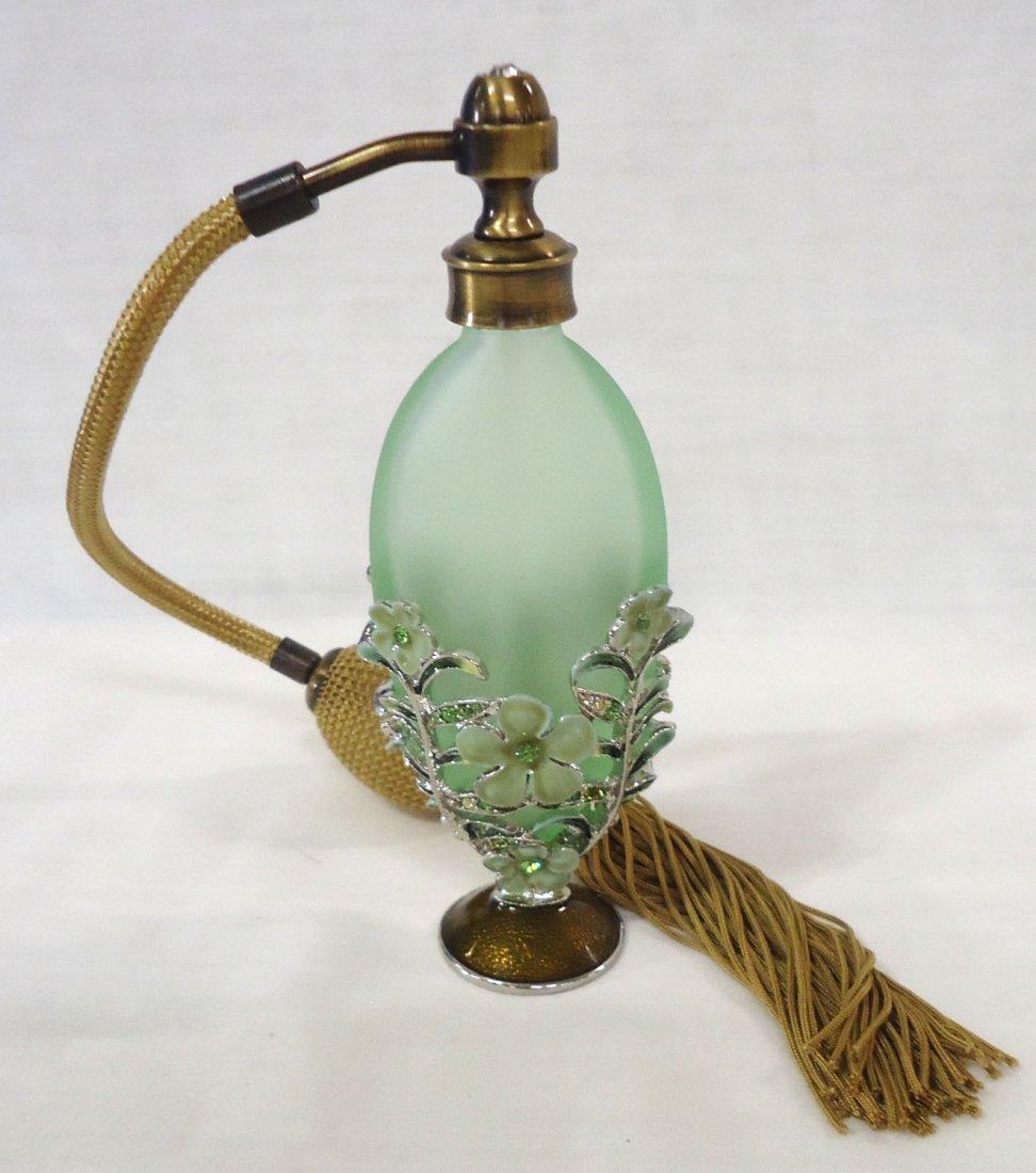 Enameled Filigree Perfume Bottle - 2