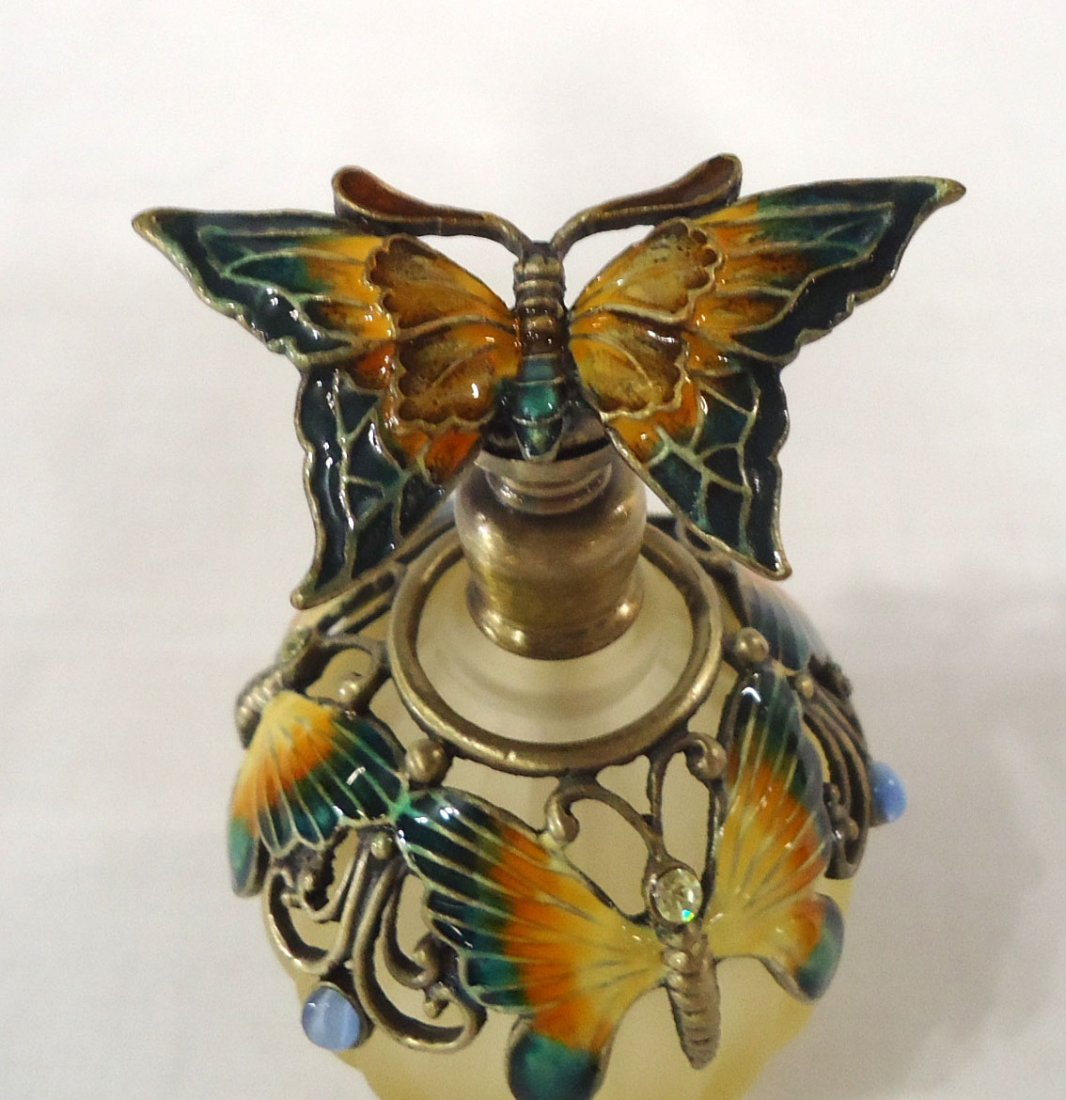Enameled Butterfly Perfume Bottle - 2