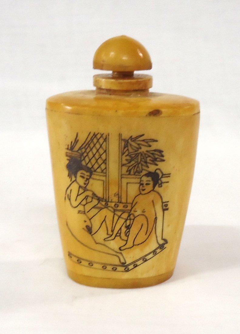 Oriental Erotic Snuff Bottle - 2