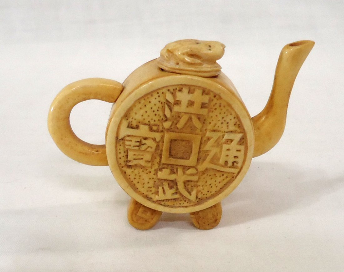 Oriental Bone Miniature Tea Pot - 2