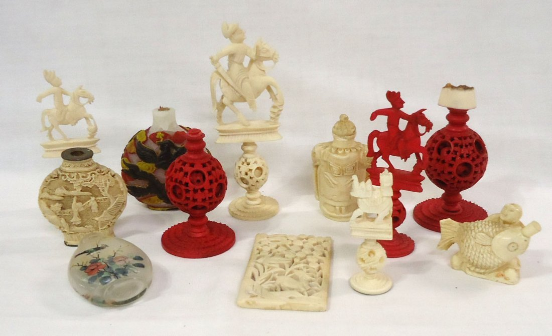 12pc Misc. Oriental Carved Items