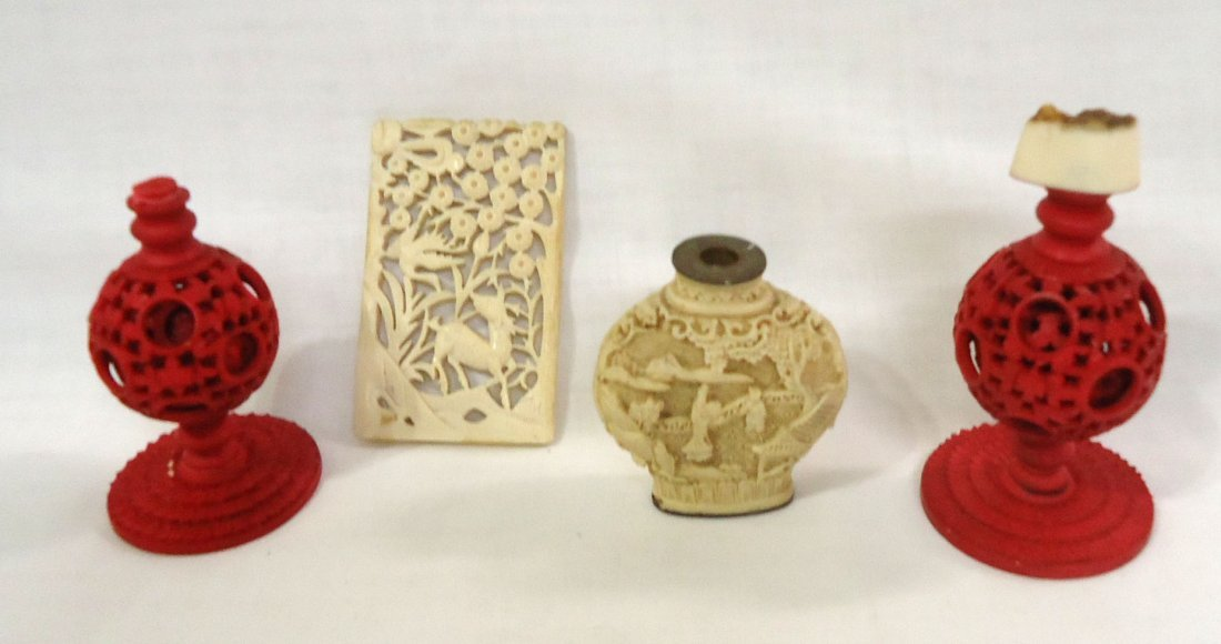 12pc Misc. Oriental Carved Items - 4
