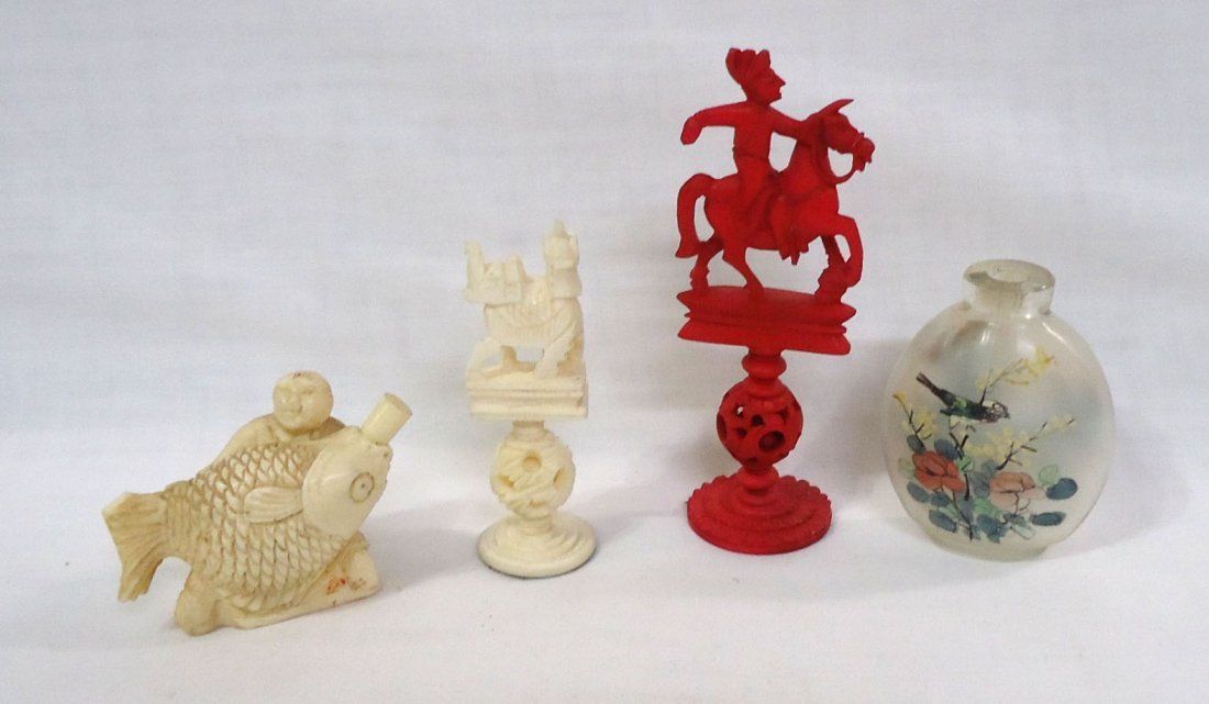 12pc Misc. Oriental Carved Items - 5
