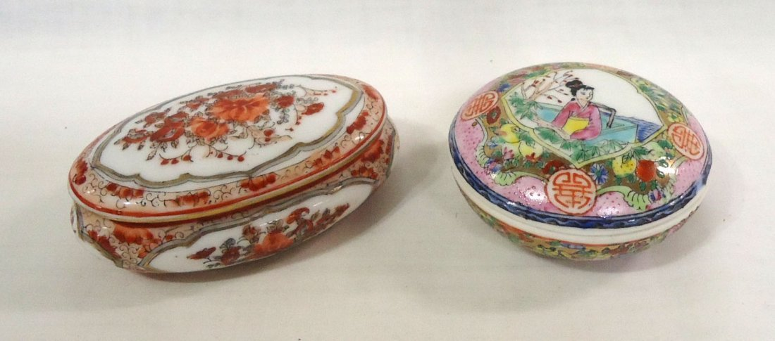 2 Covered Oriental Boxes