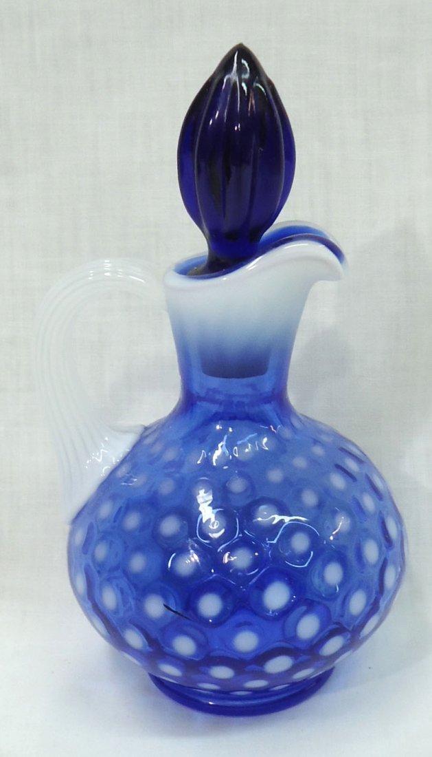 Blue Opalescent Cruet