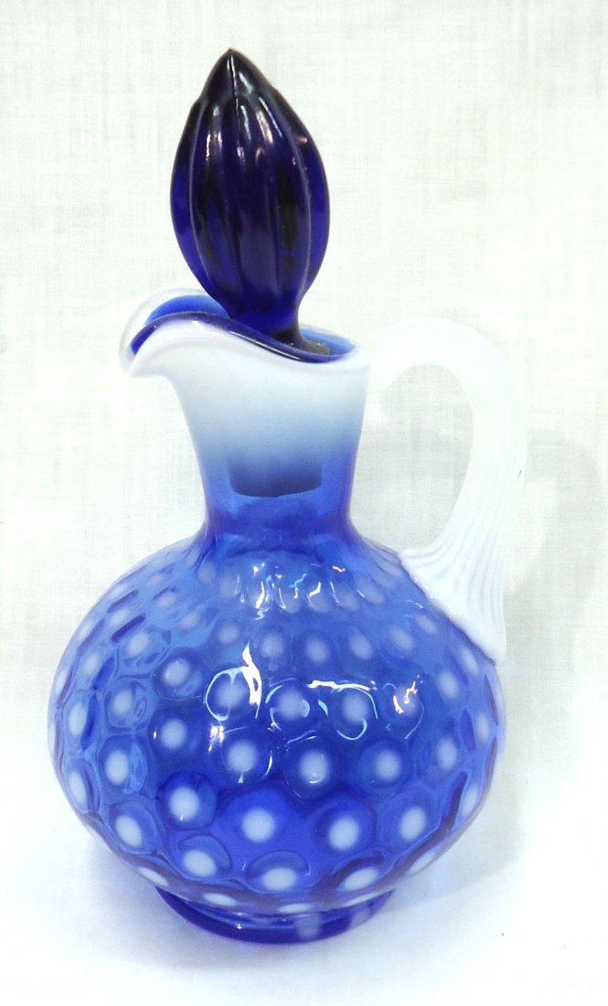 Blue Opalescent Cruet - 2