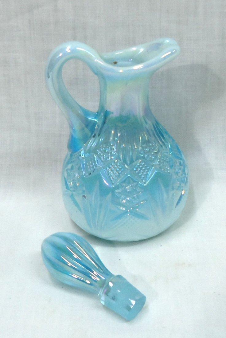 Blue Opalescent Cruet - 3