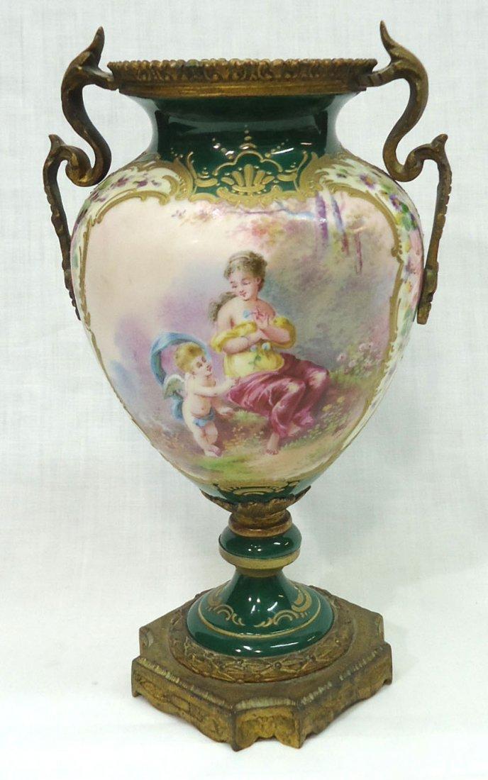 Sgnd. Sevres H.P. Vase