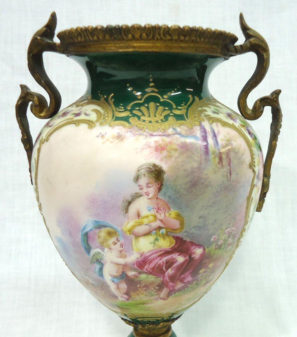 Sgnd. Sevres H.P. Vase - 2