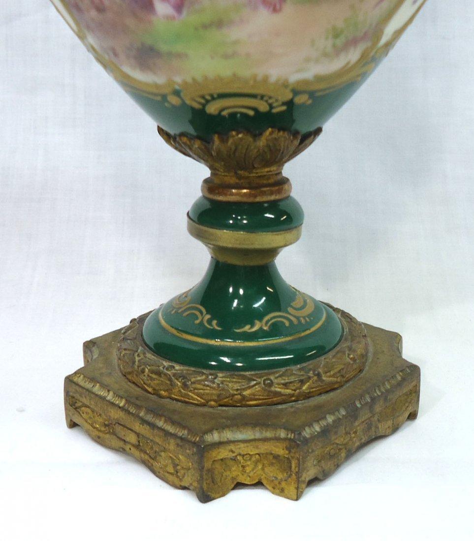 Sgnd. Sevres H.P. Vase - 3