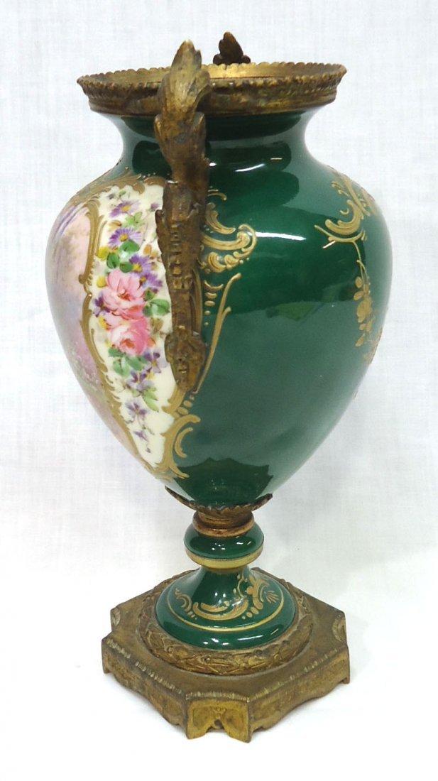 Sgnd. Sevres H.P. Vase - 4