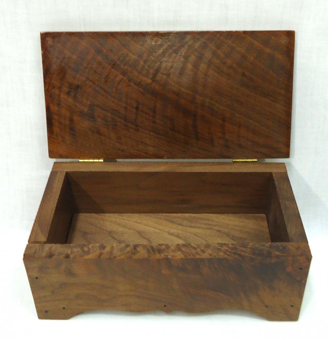 Walnut Box W/ Indian Arrowhead - 4