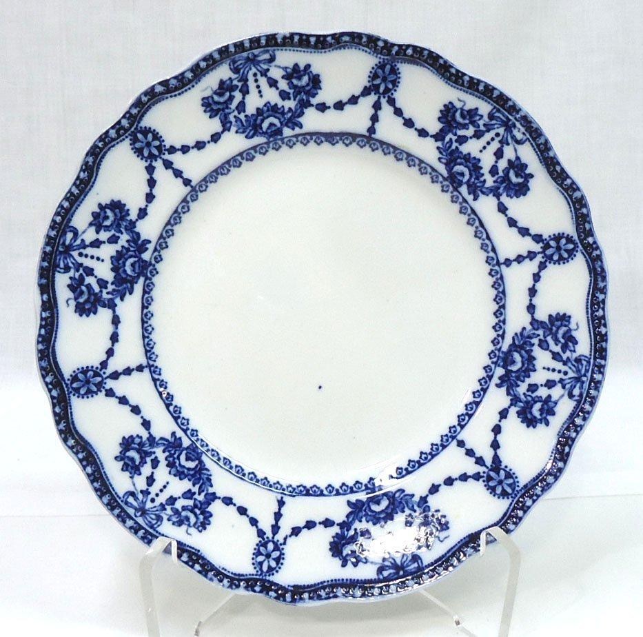 """Victorian Flow Blue Plate """" Cambridge"""""""
