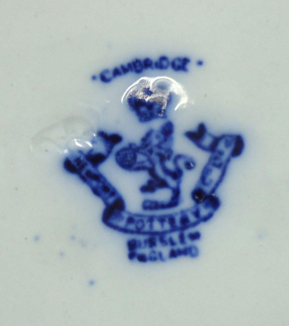 """Victorian Flow Blue Plate """" Cambridge"""" - 4"""