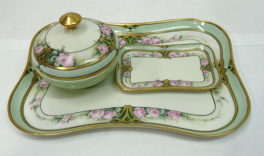 3 Pc. H.P. Limoges Dresser Set
