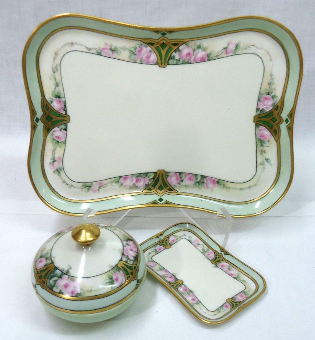 3 Pc. H.P. Limoges Dresser Set - 2
