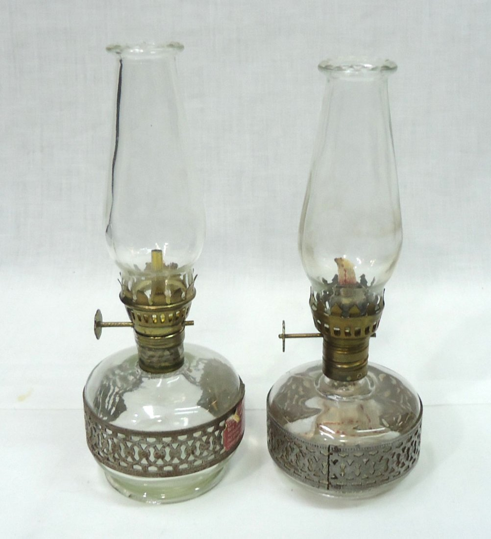 Lot Of 6 Miniature Oil Lamps - 4