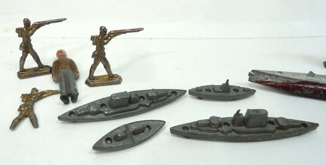 15 Metal Soldiers, Ships, Etc. - 2