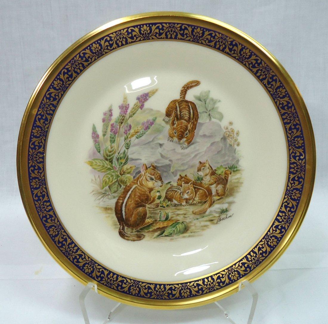 H.P Boehm Woodland Wildlife Plate
