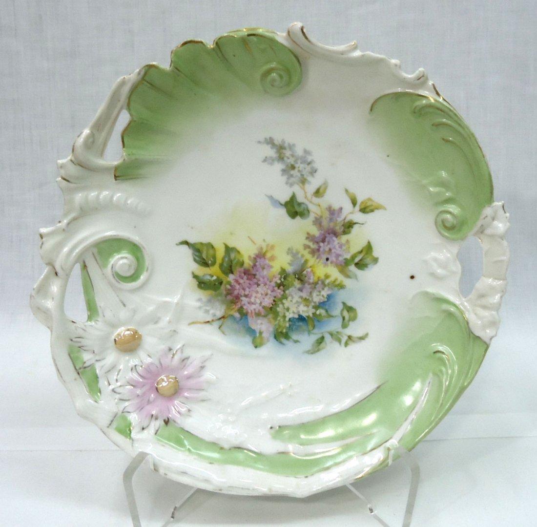 3- H.P. Cake Plates ( 2- R.S. Prussia) - 2