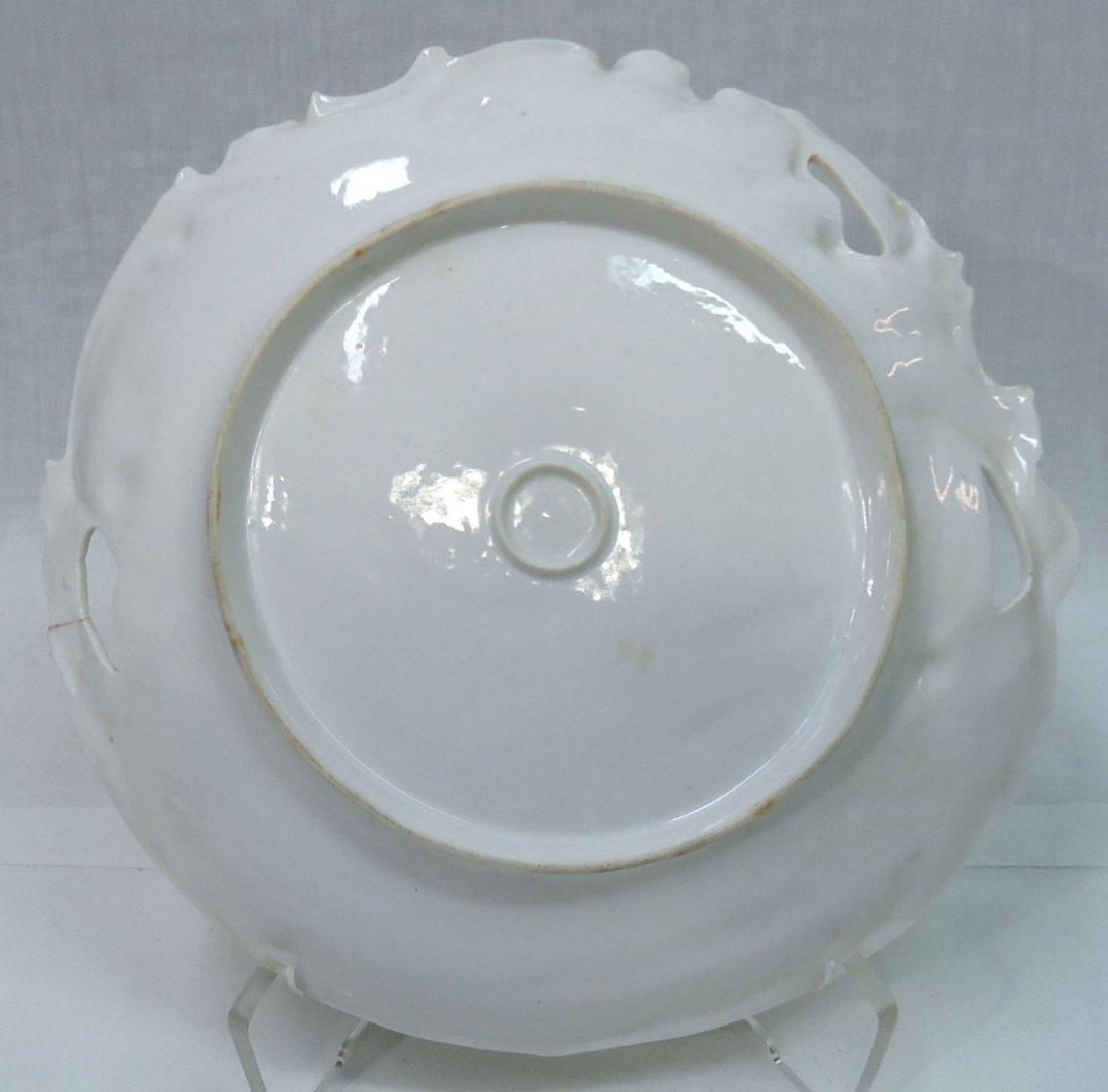 3- H.P. Cake Plates ( 2- R.S. Prussia) - 3