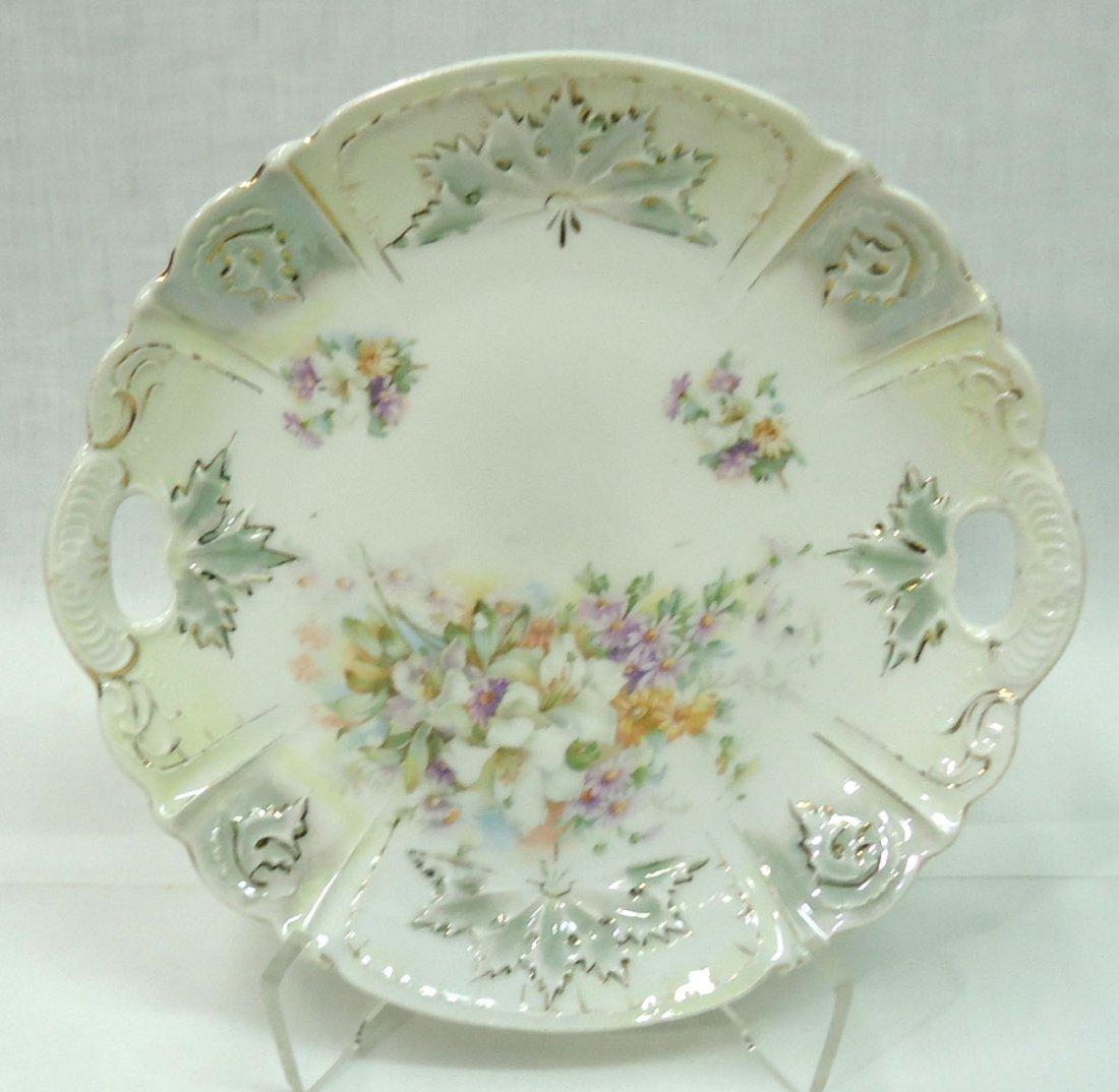3- H.P. Cake Plates ( 2- R.S. Prussia) - 4