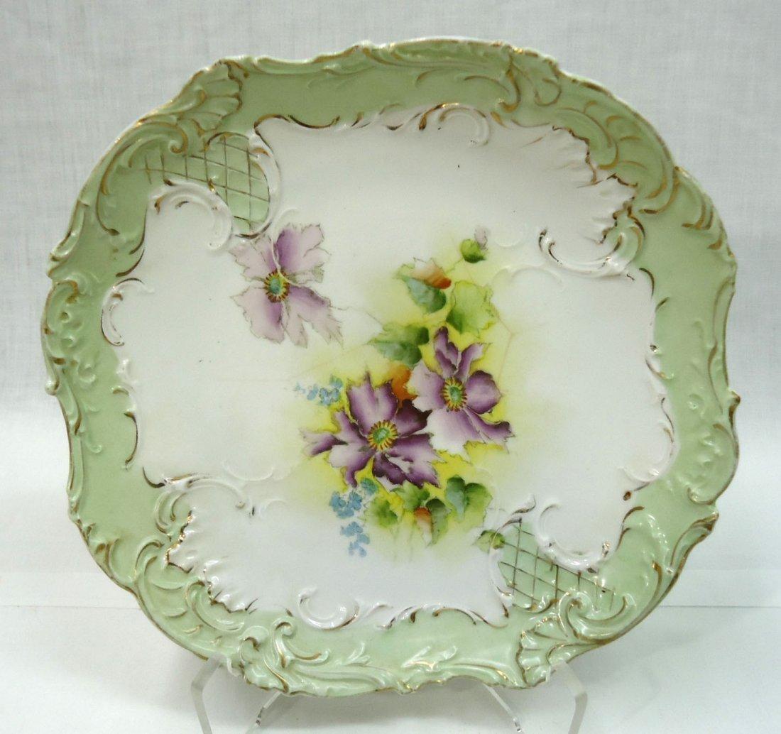 3- H.P. Cake Plates ( 2- R.S. Prussia) - 6