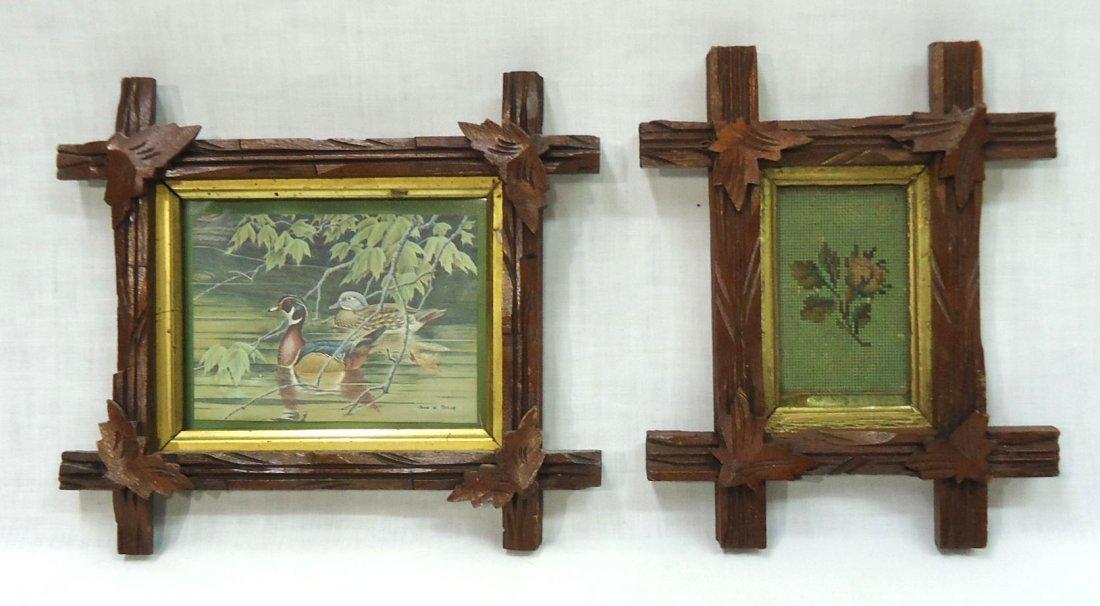 2- Walnut Vict. Criss Cross Frames