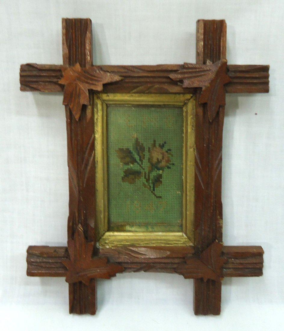2- Walnut Vict. Criss Cross Frames - 4