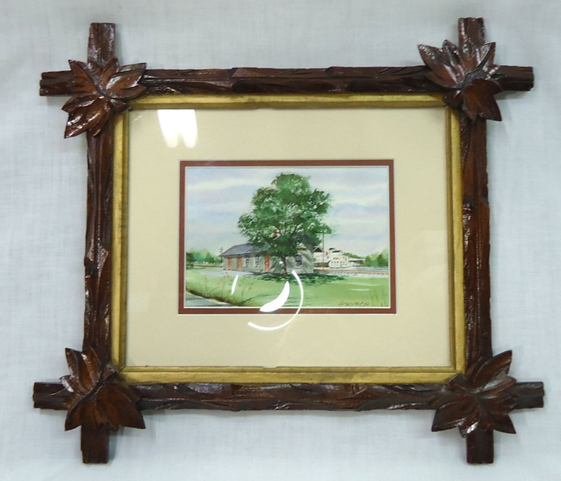 2- Walnut Vict. Criss Cross Frames - 4