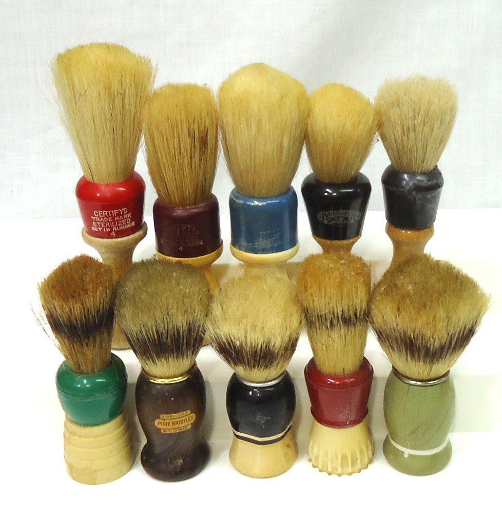 Lot Of 10 Shaving Brushes